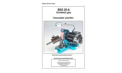 BSG20 használati utasítás és árjegyzék
